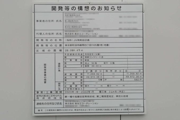 東京女学館大学跡地に建築計画が