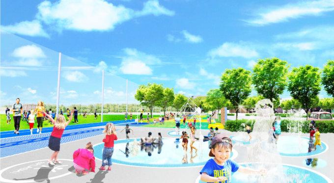 鶴間公園の親水広場