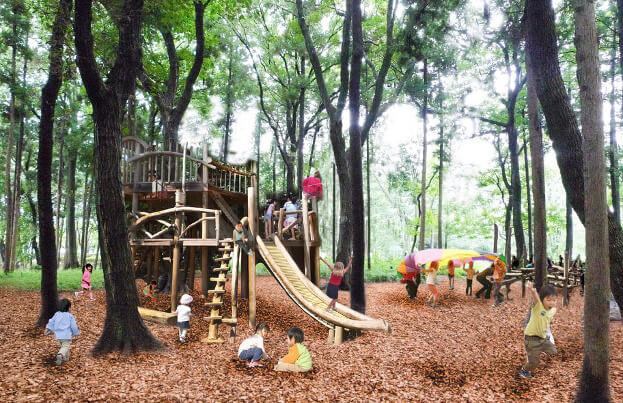 鶴間公園・森の遊び場