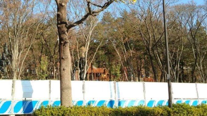 鶴間公園森の遊び場の遊具が!