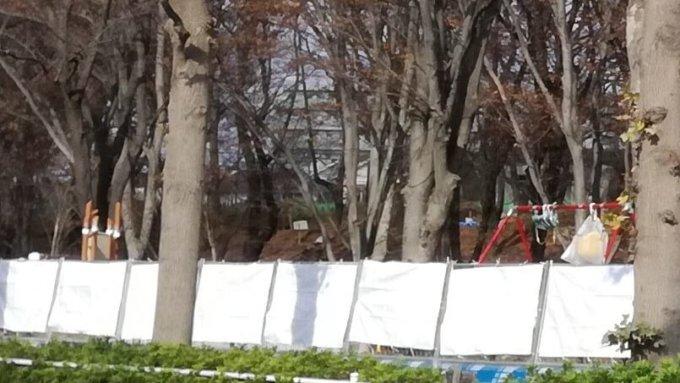 幼児広場に設置された遊具