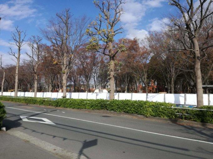 鶴間公園前のパークウォーク
