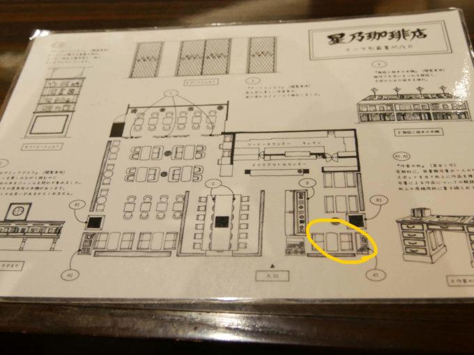 星乃珈琲中央林間スクエア店の見取り図