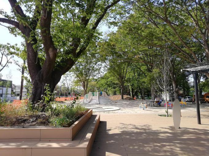 鶴間公園の幼児広場「星のあそびば」