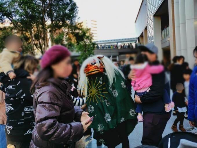 南町田グランベリーパーク獅子舞練り歩き