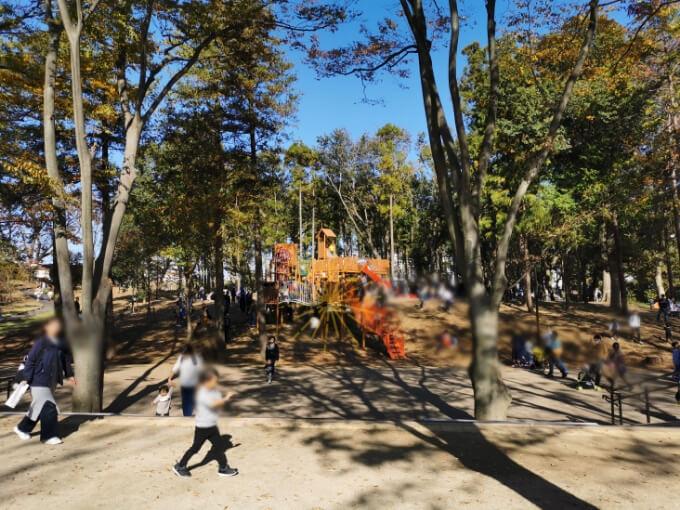 鶴間公園の混雑状況
