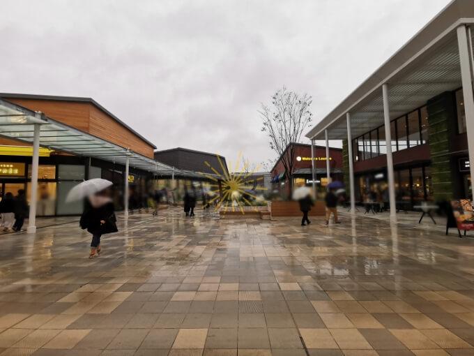 雨の日の南町田グランベリーパーク