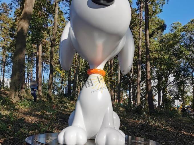 鶴間公園「つるまの森」の中のスヌーピー像
