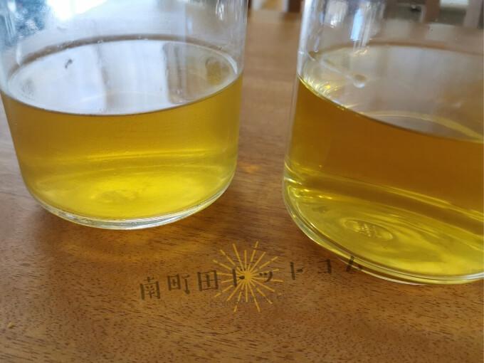 AKOMEYAと久世福商店の出汁パック飲み比べ