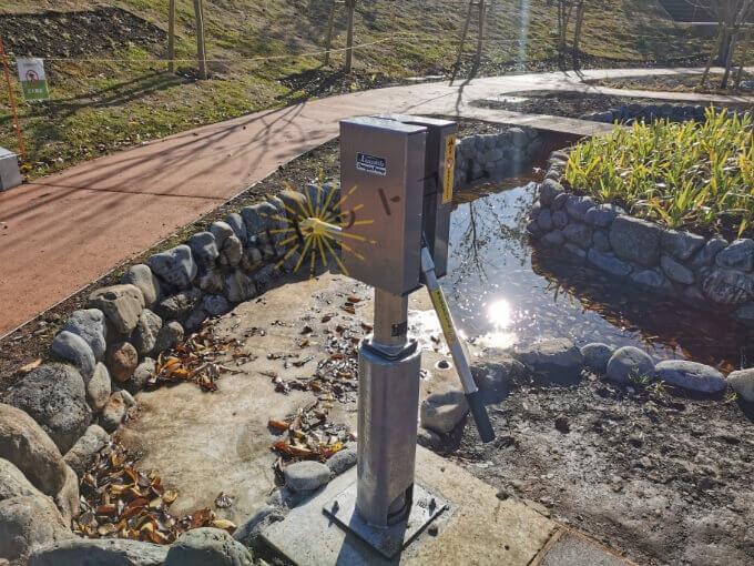 鶴間公園「せせらぎ広場」の井戸