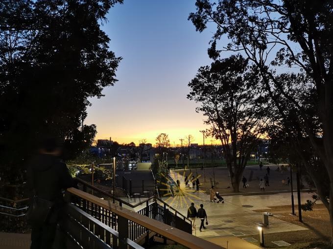 グランベリーパークおすすめの時間帯は「夕暮れ時」